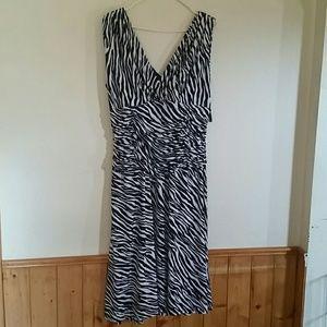 Dress Barn zebra print dress